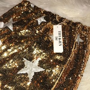 🆕 Gold And Silver Glitter Sequin Star Skirt